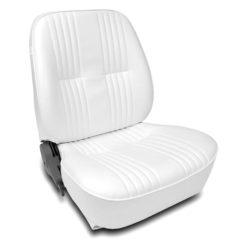 Low Back Bucket Seat | White Vinyl | Passenger Side-0