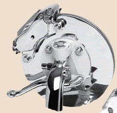 Super Stop Brakes | 360-Degree Backing Plates with Polished Caliper -0