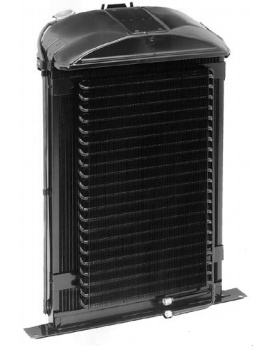 Ford Style Radiator For Small-Black Chevy with A/C | 1932-0