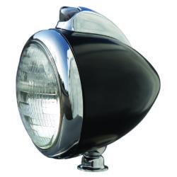 Headlight Housing   Black Primer with Chrome Parking Lamp-0
