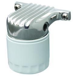 Remote Fuel Filter and Bracket | Polished-0