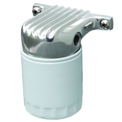 Remote Oil Filter and Bracket | Polished-0