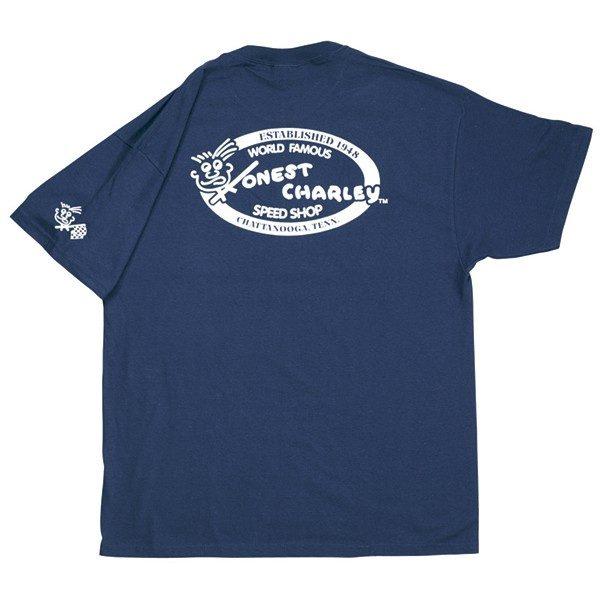 Honest Retro Oval Speed Shop T-Shirt | Navy-0