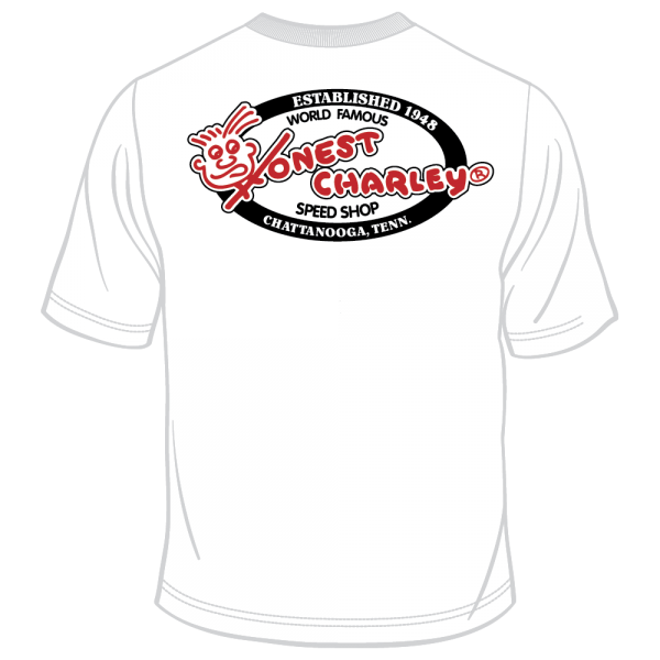 Honest Charley Logo Tee - Black/Red on White-10756