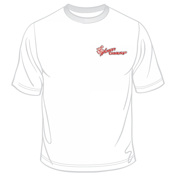 Honest Charley Logo Tee - Black/Red on White-0