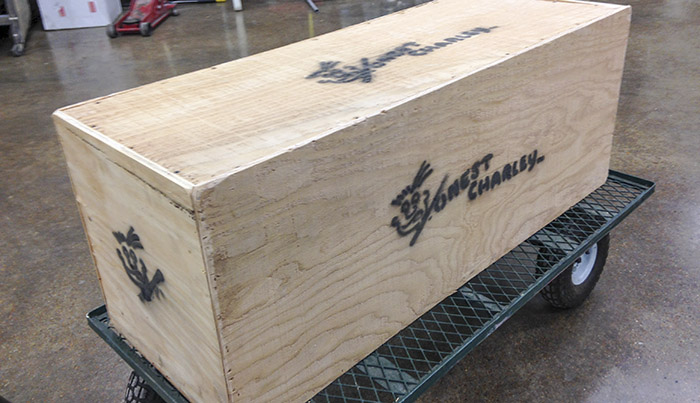 To finish off the job, we build custom crates and ship the finished pieces to your door!